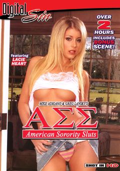 "Adult entertainment movie ""American Sorority Sluts"" starring Lacie Heart, Nadia Styles & Sammie Rhodes. Produced by Digital Sin."