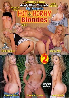 "Adult entertainment movie ""My Favorite Hot And Horny Blondes 2"" starring Carmen Luvana, Dayton Rains & Heidi Dalton. Produced by New Machine."