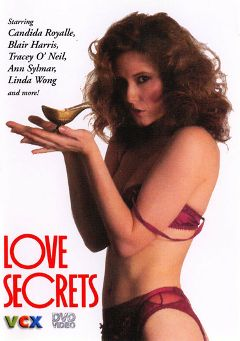 "Adult entertainment movie ""Love Secrets"" starring Candida Royalle, Lisa Sue Corey & Clair Dia. Produced by VCX Home Of The Classics."