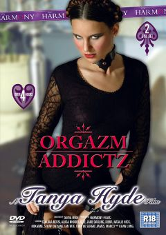"Adult entertainment movie ""Orgazm Addictz"" starring Claudia Rossi, Strap on Jane & Roxanne Coxx. Produced by Harmony Films Ltd.."