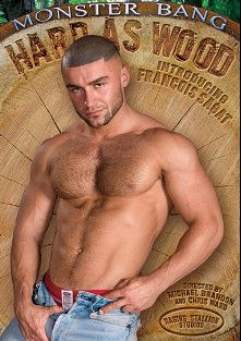 Hard As Wood, starring Francois Sagat, Nick Piston, Michael Brandon, Rafael Alencar, Sean Harris, Colin West, Chuck DiRocco, Mike Power and Joey Russo, produced by Falcon Studios Group, Monster Bang and Raging Stallion Studios.