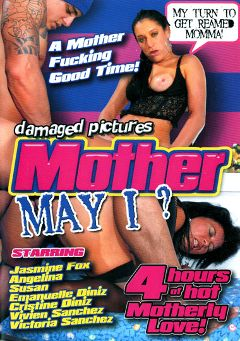 "Adult entertainment movie ""Mother May I"" starring Jasmine Fox, Angelina & Susan. Produced by Damaged Productions."