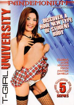 "Adult entertainment movie ""T-Girl University"". Produced by Pandemonium."
