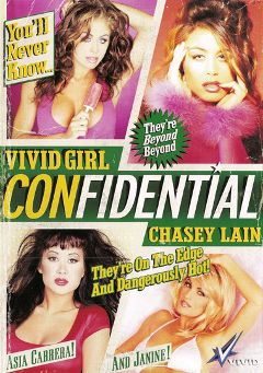 "Adult entertainment movie ""Vivid Girl Confidential:  Chasey Lain"" starring Chasey Lain, Asia Carrera & Jill Kelly. Produced by Vivid Entertainment."