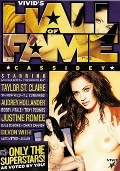 "Adult entertainment movie ""Vivid's Hall Of Fame:  Cassidey"" starring Cassidey, Chennin Blanc & Taylor St. Claire. Produced by Vivid Entertainment."