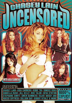"Adult entertainment movie ""Chasey Lain Uncensored"" starring Chasey Lain, Asia Carrera & Jill Kelly. Produced by Vivid Entertainment."
