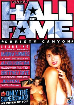 "Adult entertainment movie ""Vivid's Hall Of Fame: Christy Canyon"" starring Barbara Summer, Christy Canyon & Jill Kelly. Produced by Vivid Entertainment."