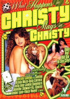 "Adult entertainment movie ""What Happens In Christy Stays In Christy"" starring Christy Canyon, Amber Lynn & Asia Carrera. Produced by Vivid Entertainment."