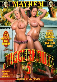 "Adult entertainment movie ""Juggernauts 5"" starring Carmella Bing, Dakota Cameron & Carolyn Monroe. Produced by Mayhem XXX."