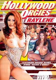 "Adult entertainment movie ""Hollywood Orgies: Raylene"" starring Raylene, Sydnee Steele & Shelbee Myne. Produced by Vivid Entertainment."