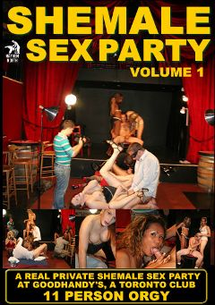 "Adult entertainment movie ""Shemale Sex Party"" starring Kayla Roxx, Ashley (o) & Chanel (o). Produced by Mayhem North Production."