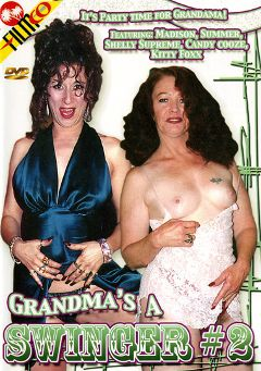 "Adult entertainment movie ""Grandma's A Swinger 2"" starring Madison Harris, Candy Cooze & Summer (II). Produced by Filmco."