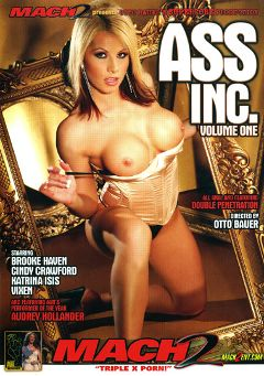 "Adult entertainment movie ""Ass Inc."" starring Brooke Haven, Audrey Hollander & Cindy Crawford. Produced by Supercore."