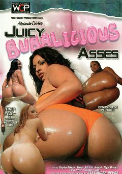 "Adult entertainment movie ""Juicy Bubblicious Asses"" starring Lexi Cruz, Taya Silvers & Victoria Lan. Produced by West Coast Productions."
