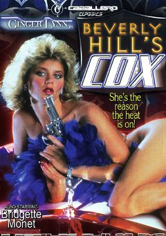 "Adult entertainment movie ""Beverly Hill's Cox"" starring Ginger Lynn, Patricia Velos & Loretta Jody Miller. Produced by Caballero Video."