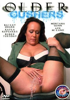 "Adult entertainment movie ""Older Gushers"" starring Bailey O'Dare, Kayla Kupcakes & Montana Gunn. Produced by Totally Tasteless Video."