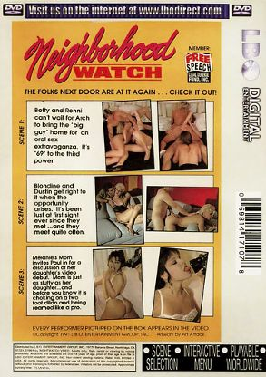 Straight Adult Movie Neighborhood Watch 11 - back box cover