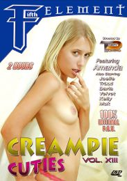 """Featured Category - Cream Pies presents the adult entertainment movie """"Creampie Cuties 13""""."""