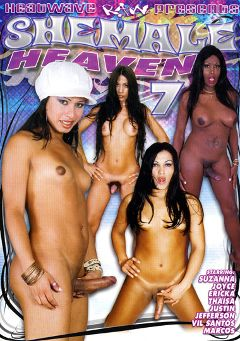 "Adult entertainment movie ""Shemale Heaven 7"" starring Suzana Holmes & Joyce. Produced by Heatwave Entertainment."