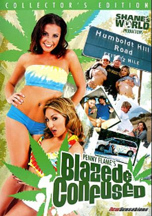 Blazed And Confused, starring Jenna Presley, Roxy Jezel, Penny Flame, Charles Berry, Page Morgan, Kyle Moore, Jack Venice, Sascha Libido, Charlotte Stokely, Sativa Rose and Mr. Pete, produced by Shane's World.