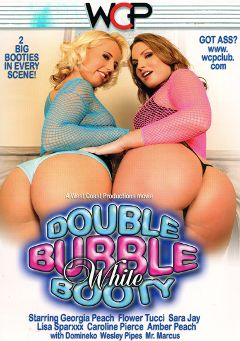 "Adult entertainment movie ""Double Bubble White Booty"" starring Georgia Peach, Flower Tucci & Caroline Pierce. Produced by West Coast Productions."