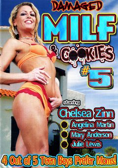 "Adult entertainment movie ""MILF And Cookies 5"" starring Julie Lewis, Angelina Martin & Mary Anderson. Produced by Damaged Productions."