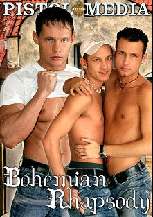 Bohemian Rhapsody, starring Richie Rich, Peter Merseros, Miguel De Sanchez, Leo Cooper, Jan Zak, Zbynek Onderka, Tomas Bouska, Petr Hacha and Denis Reed, produced by Pistol Media and Raging Stallion Studios.