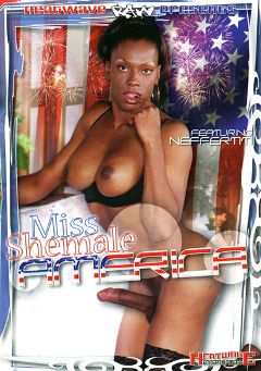 "Adult entertainment movie ""Miss Shemale America"" starring Neffertiti, Sabrina (o) & Vo D'Balm. Produced by Heatwave Entertainment."