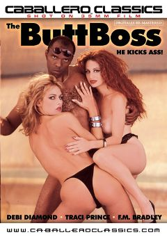 "Adult entertainment movie ""The Butt Boss"" starring Traci Prince, Debi Diamond & David Mideast. Produced by Caballero Video."