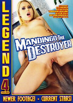 "Adult entertainment movie ""Mandingo The Destroyer"" starring Brynn Brooks, Simone Schiffer & Katie Rae. Produced by Legend."