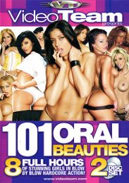 """Featured Star - Amber Rayne presents the adult entertainment movie """"101 Oral Beauties""""."""