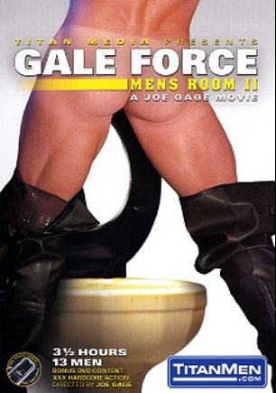 Mens Room II: Gale Forces, starring Cliff Rhodes, Hunt Parker, Jacob Slader, Darren Stone, TJ Taylor, Justin Gemineye, Blu Kennedy, Rhett Hengst, Mike Grant, Nick Parker, Trey Rexx, Gus Mattox and Marco Paris, produced by Titan Media.