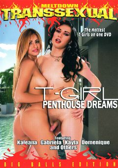 "Adult entertainment movie ""T-Girl:  Penthouse Dreams"" starring Gabriela (o), Domenique & Kayla (o). Produced by Meltdown."