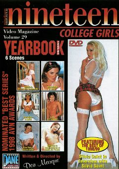 "Adult entertainment movie ""Nineteen College Girls 29"" starring Vivi Anne, Blondie & Lola. Produced by Dane Productions."