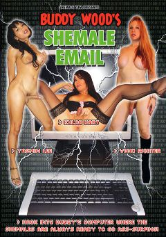 "Adult entertainment movie ""Buddy Wood's Shemale Email"" starring Yasmin Lee, Khloe Hart & Vicki Richter. Produced by Grooby Productions."
