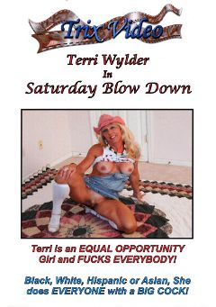 "Adult entertainment movie ""Saturday Blow Down"" starring Terri Wylder. Produced by Trix Productions."
