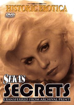 "Adult entertainment movie ""Seka's Secrets"" starring Seka. Produced by Historic Erotica."