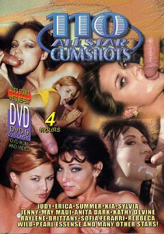 "Adult entertainment movie ""110 All Star Cumshots"" starring Judy, Raylene & Jenny Fields. Produced by Sunshine Entertainment."