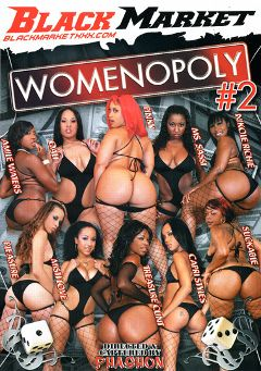 "Adult entertainment movie ""Womenopoly 2"" starring Treasure Cunt, Kapri Styles & Pinky. Produced by Black Market Entertainment."