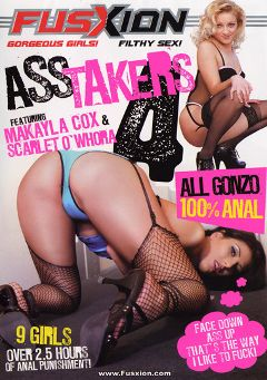 "Adult entertainment movie ""Ass Takers 4"" starring Makayla Cox, Scarlet O'Whora & Dillan Lauren. Produced by Metro Media Entertainment."