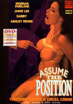 "Adult entertainment movie ""Assume The Position"" starring Morgan Fairlane, Ashley Renee & Jamie Lee. Produced by London Video/HOM."