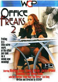 "Adult entertainment movie ""Office Freaks 2"" starring Melrose Foxxx, Jackie Brown & Sinnamon Love. Produced by West Coast Productions."
