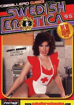 "Adult entertainment movie ""Swedish Erotica 95"" starring Janey Robbins. Produced by Caballero Video."