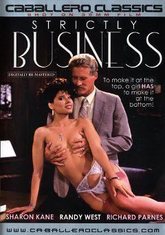 "Adult entertainment movie ""Strictly Business"" starring Sharon Kane, Lacey Logan & Melba Cruz. Produced by Caballero Video."