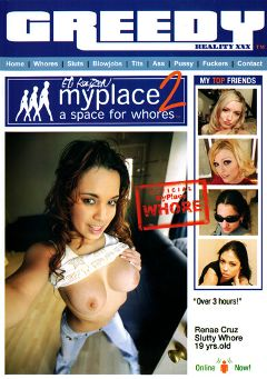 "Adult entertainment movie ""Myplace 2:  A Space For Whores"" starring Rayne Rodriquez, Kylie Reese & Katrina Angel. Produced by Greedy Reality XXX."
