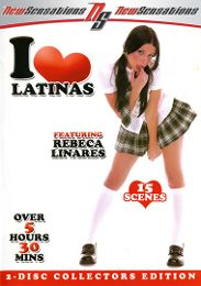 "Featured Star - Rebeca Linares presents the adult entertainment movie ""I Love Latinas""."