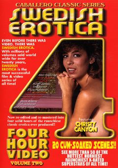 "Adult entertainment movie ""Swedish Erotica 2"" starring Christy Canyon, Connie Burbett & Jonathon Younger. Produced by Caballero Video."