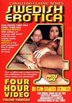"Adult entertainment movie ""Swedish Erotica 13"" starring Abbey Lane, Nicole Lace & Anna Marie Tyler. Produced by Caballero Video."