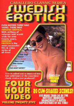 "Adult entertainment movie ""Swedish Erotica 25"" starring Melissa Monet, Barbra Braun & Monique Hall. Produced by Caballero Video."