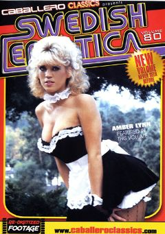 "Adult entertainment movie ""Swedish Erotica 80"" starring Amber Lynn, David Cannon & Honey Wilder. Produced by Caballero Video."